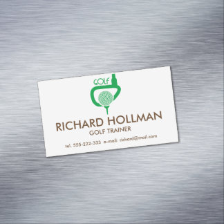 Golf Business Card Magnet