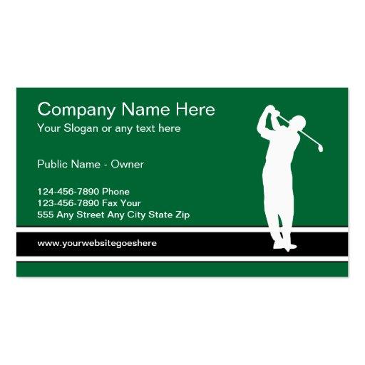 Golf pro business card templates bizcardstudio golf business card template colourmoves