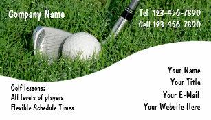 Golf business cards templates zazzle golf business cards colourmoves