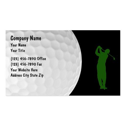 Golf pro business card templates bizcardstudio golf business cards colourmoves