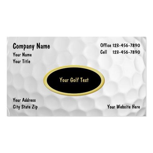 Golf Business Cards