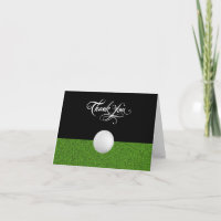 Golf Business Classy Thank You Card