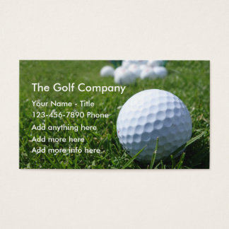 Golf Business Or Services Business Card