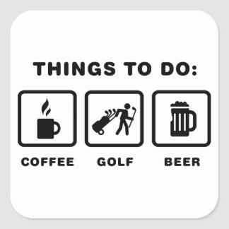 Golf Caddy Square Sticker