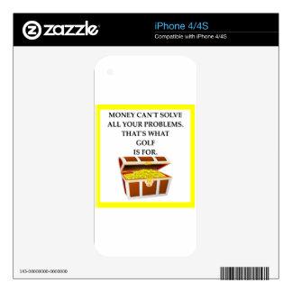 GOLF CALCOMANÍAS PARA iPhone 4