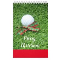 Golf Calendar with golf ball on green grass