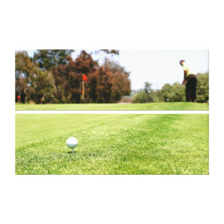 Golf Stretched Canvas Print