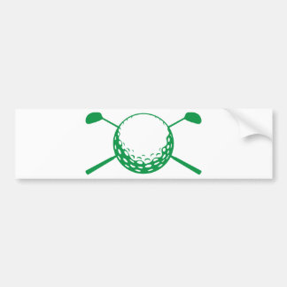 Golf Car Bumper Sticker
