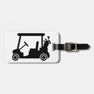 Golf car luggage tag
