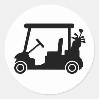 Golf car stickers