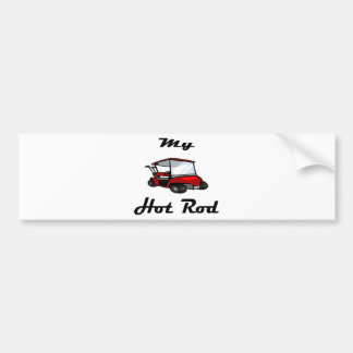 golf cart2 bumper sticker