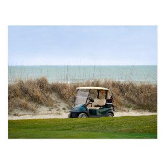 Golf Cart at the Eighteenth Hole, Kiawah Island Postcard