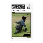 Golf Cart Bag Postage Stamp