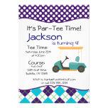 Golf Cart Birthday Party Invitation