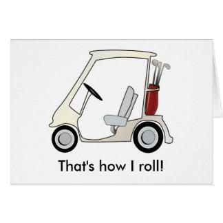 golf_cart greeting card