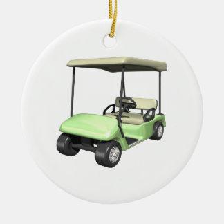 Golf Cart Ceramic Ornament