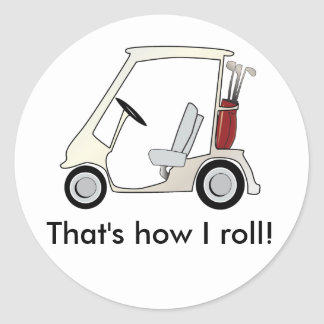 golf_cart classic round sticker