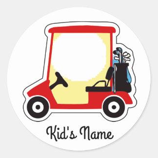 Golf cart classic round sticker