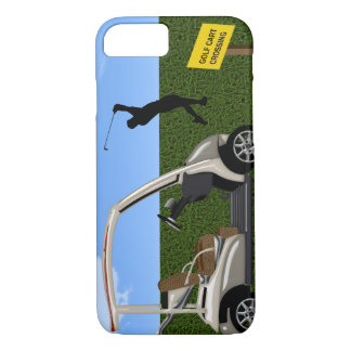 Golf Cart Crossing on Fairway iPhone 8/7 Case