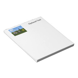Golf Cart Crossing on Fairway Notepad