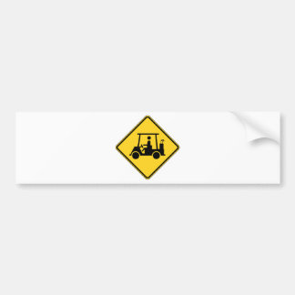 Golf Cart Crossing Sign Bumper Stickers