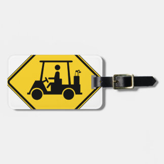 Golf Cart Crossing Sign Tags For Luggage