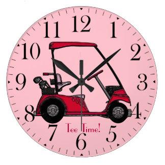 Golf Cart for the Golfer Wallclocks