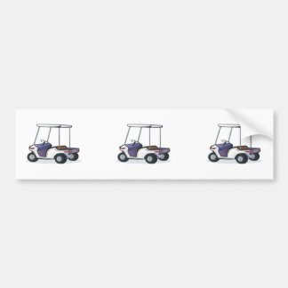 golf cart graphic bumper stickers
