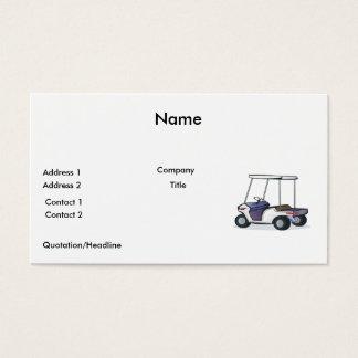 golf cart graphic business card