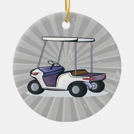 golf cart graphic ceramic ornament