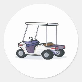 golf cart graphic classic round sticker