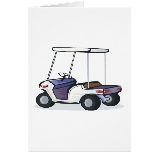 golf cart graphic greeting card