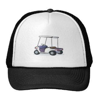 golf cart graphic trucker hat