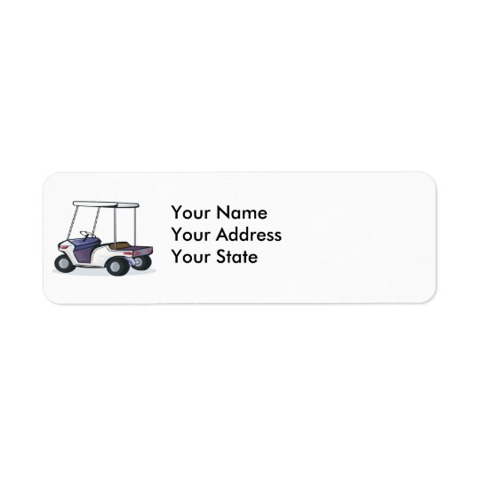 golf cart graphic label