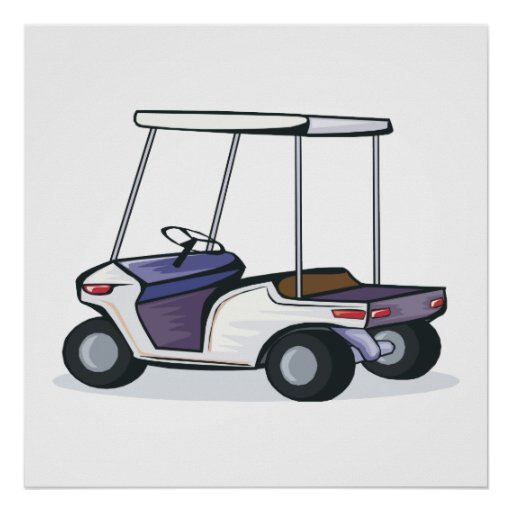 golf cart graphic posters