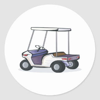 golf cart graphic classic round sticker