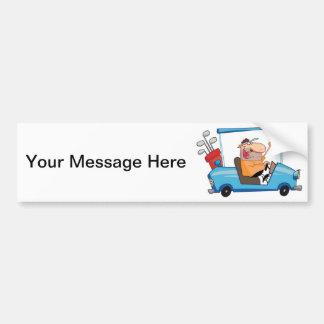 Golf Cart Guy Bumper Stickers