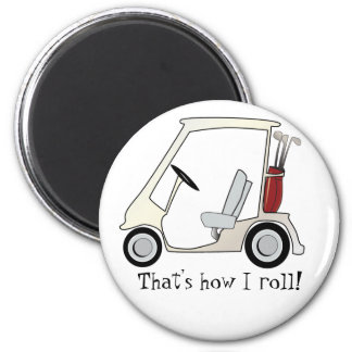 golf_cart imán redondo 5 cm