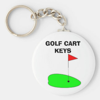 GOLF CART KEYS KEYCHAIN