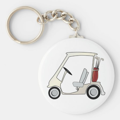 golf_cart llavero redondo tipo pin