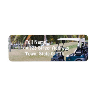 Golf Cart Mailing Label