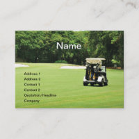golf cart on a fairway business card