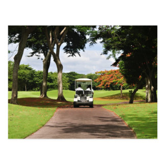 Golf Cart on Path Post Cards