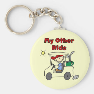 Golf Cart Other Ride Tshirts and Gifts Keychain