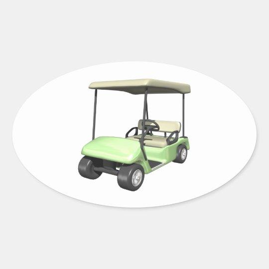 Golf Cart Oval Sticker