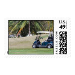 Golf Cart Postage Stamp
