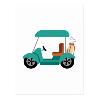Golf Cart Postcard