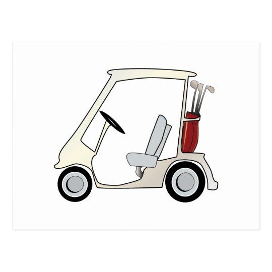 golf_cart postcard