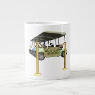 Golf Cart Rentals Extra Large Mugs