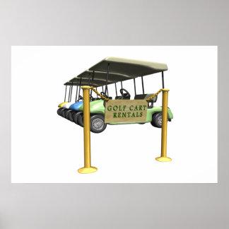 Golf Cart Rentals Poster